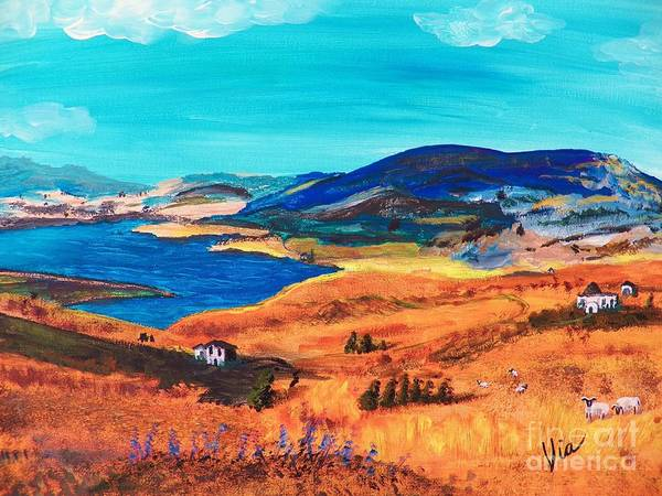 Sicily Painting - Ptg   Italian Countryside by Judy Via-Wolff