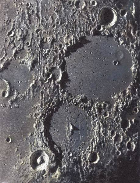 Wall Art - Photograph - Ptolemaeus And Alphonsus Craters by David A. Hardy/science Photo Library