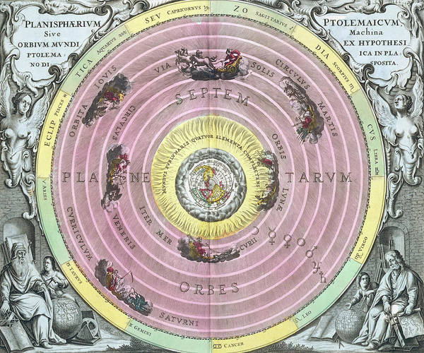 Harmonica Photograph - Ptolemaic Planisphere by Royal Astronomical Society/science Photo Library