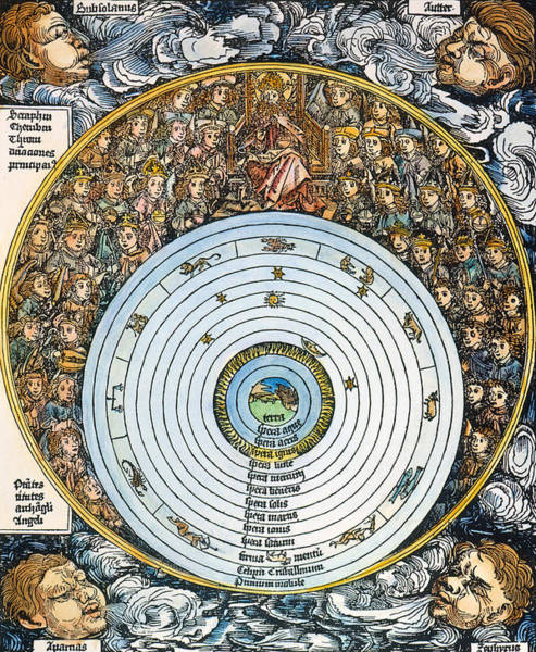 Photograph - Ptolemaic Universe, 1493 by Granger