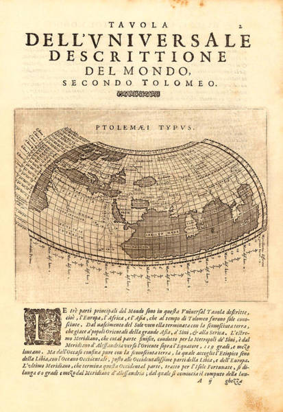 1621 Photograph - Ptolemy Typus World Map 1621 by Karon Melillo DeVega