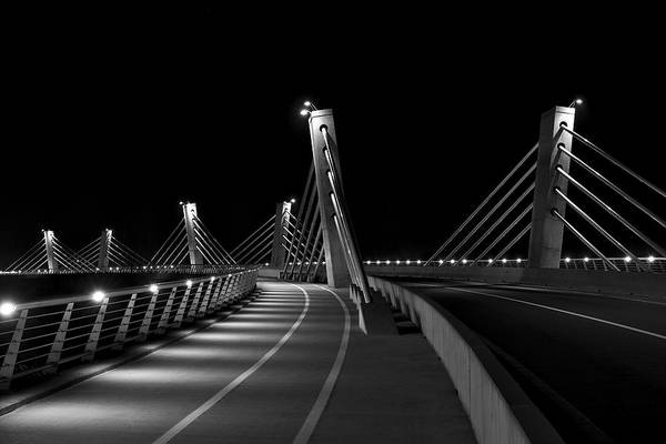 Photograph - Ptuj Bridge Bw by Ivan Slosar