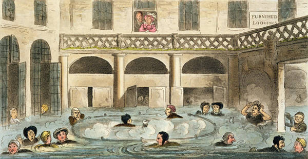 Public Bathing At Bath, Or Stewing Art Print