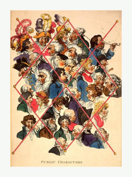 Wall Art - Drawing - Public Characters, Rowlandson, Thomas, 1756-1827 by English School