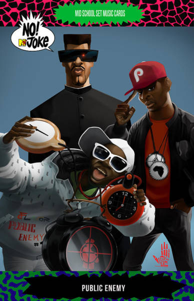 Flavours Wall Art - Digital Art - Public Enemy Ntv Card by Nelson D edosGarcia