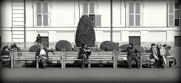 Wall Art - Photograph - Public Interaction by Valentino Visentini
