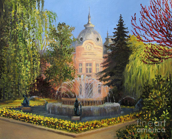 Wall Art - Painting - Public Library In Russe by Kiril Stanchev