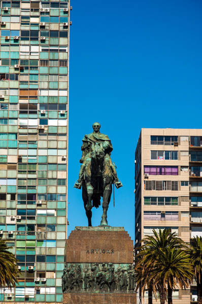 Montevideo Wall Art - Photograph - Public Statue Of General Artigas In Montevideo by Jess Kraft