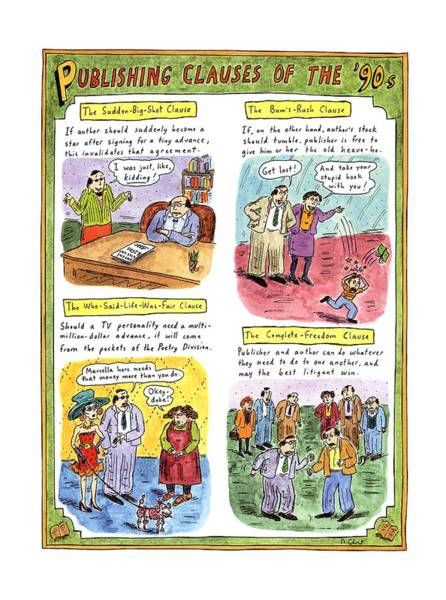 Title Page Wall Art - Drawing - Publishing Clauses Of The '90s by Roz Chast