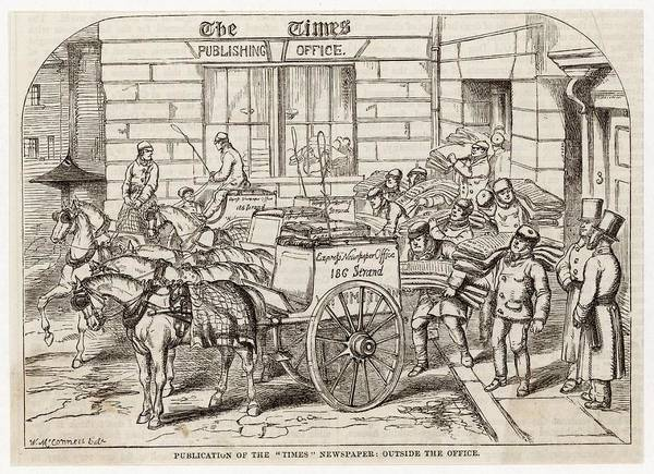 Distribution Drawing - Publishing The Times  Newspaper by Mary Evans Picture Library