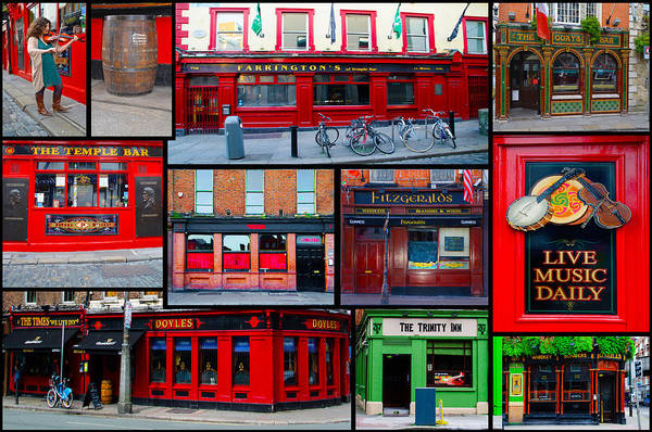 Temple Bar Wall Art - Photograph - Pubs Of Dublin by Bill Cannon