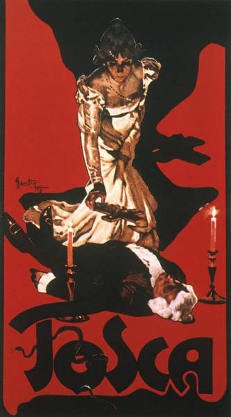 Turn Of The Century Painting - Puccini Tosca Poster, 1900 by Granger
