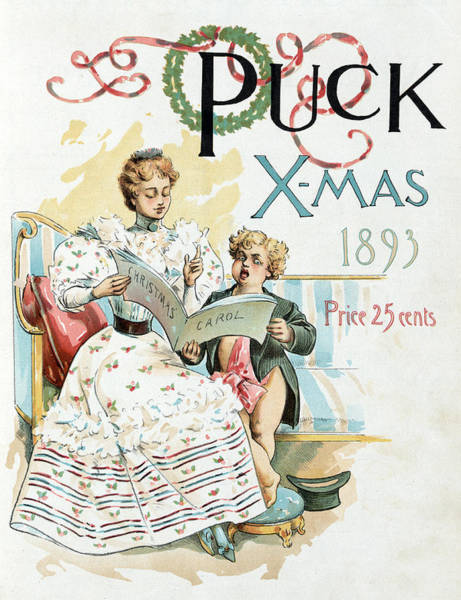 Carol Singing Photograph - Puck Christmas, 1893 by Science Source