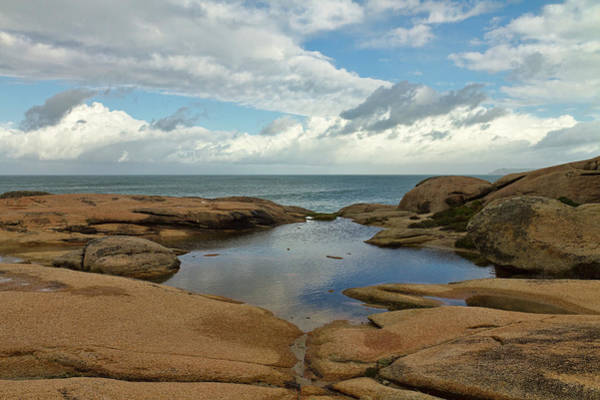 Galicia Photograph - Puddle On The Cliff  - Costa Da Morte by Vicente Méndez