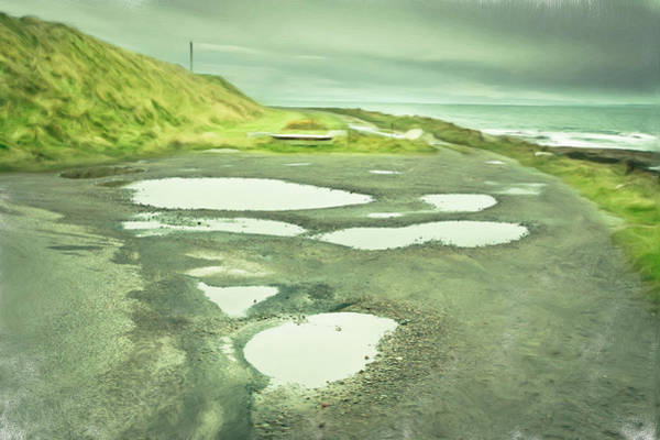 Potholes Wall Art - Photograph - Puddles by Tom Gowanlock