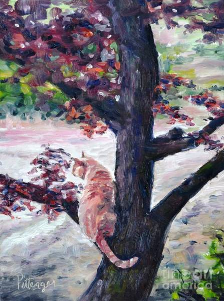 Painting - Pudge In The Plum by Lori Pittenger