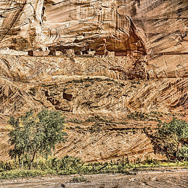 Photograph - Pueblo 2 Canyon De Chelly Navajo Nation by Bob and Nadine Johnston