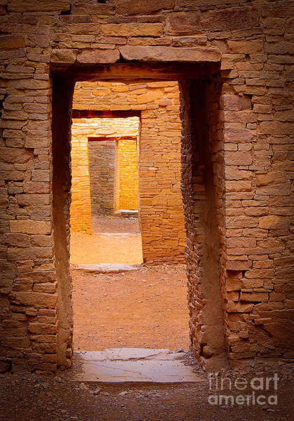 Ancient America Photograph - Pueblo Doorways by Inge Johnsson