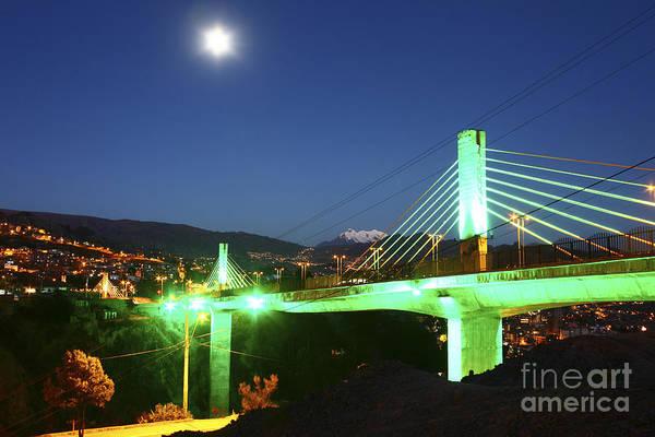 Photograph - Puentes Trillizos Suspension Bridge by James Brunker