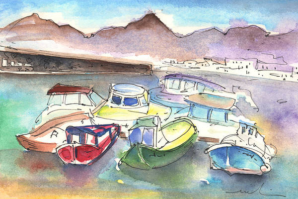 Painting - Puerto Carmen Harbour 02 by Miki De Goodaboom