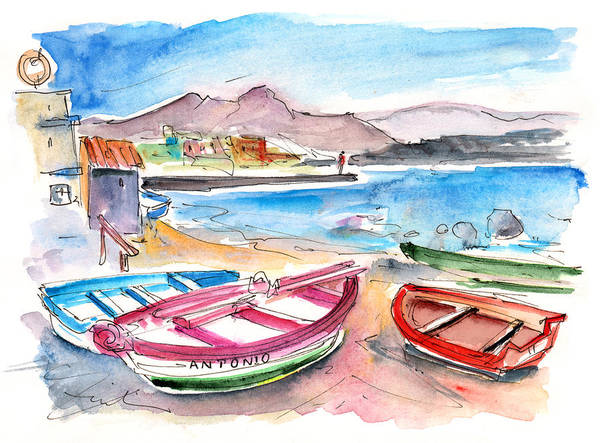 Painting - Puerto De Sardina 03 by Miki De Goodaboom