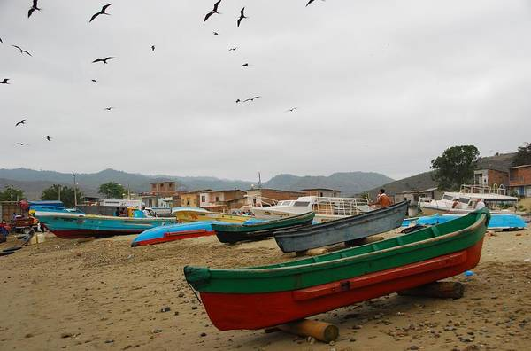 Photograph - Puerto Lopez Beach And Boats by Cascade Colors