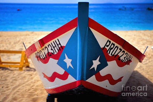 Puerto Rican Photograph - Puerto Rican Flag Painted Fishing Boat by George Oze