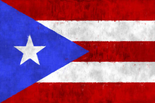 Wall Art - Digital Art - Puerto Rico Flag by World Art Prints And Designs
