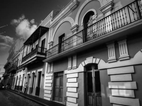 Photograph - Puerto Rico - Old San Juan 002 Bw by Lance Vaughn
