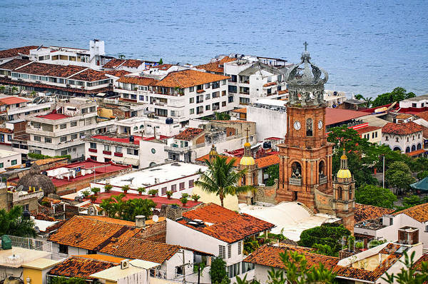 Wall Art - Photograph - Puerto Vallarta Rooftops by Elena Elisseeva