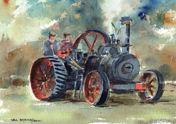 Painting - Puff Puff In Stradbally Ireland by Val Byrne