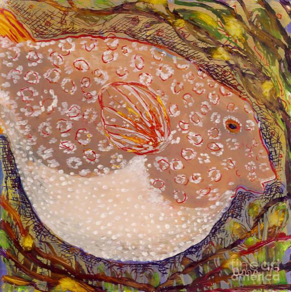 Painting - Puffer by Anna Skaradzinska