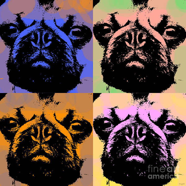 Digital Art - Pug Pop Art by Jean luc Comperat