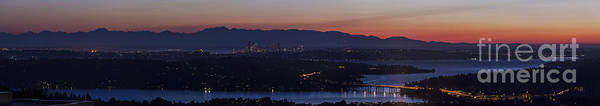 Puget Sound Photograph - Puget Sound Panorama by Mike Reid