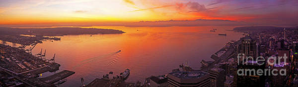 Wall Art - Photograph - Puget Sound Sunset by Mike Reid