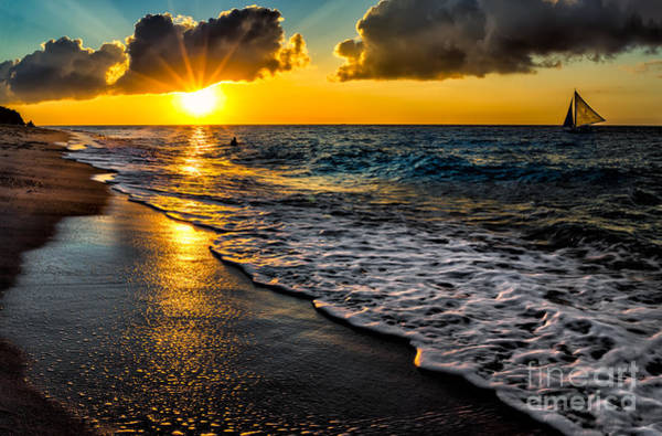 Wall Art - Photograph - Puka Beach Sunset by Adrian Evans