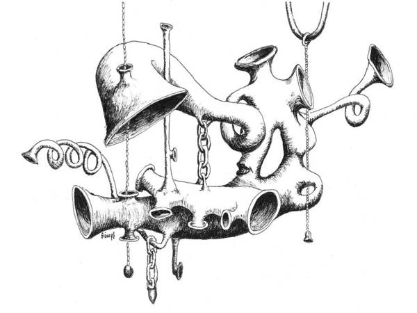 Drawing - Pull My Chain Sweetheart by Sam Sidders