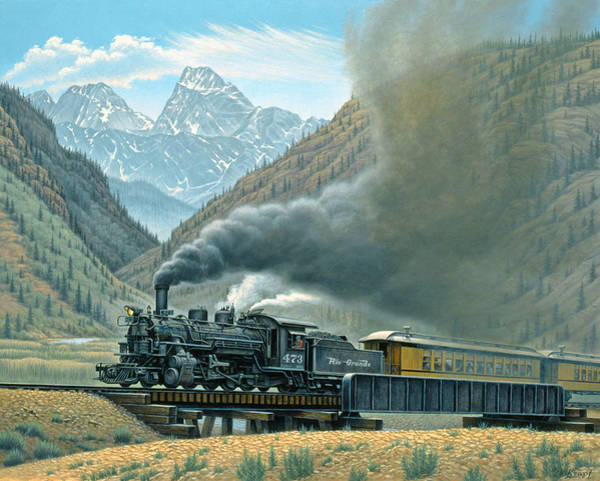 Colorado Landscape Painting - Pulling For Silverton by Paul Krapf