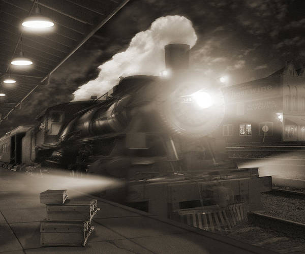 Railroad Station Photograph - Pulling Out 2 by Mike McGlothlen