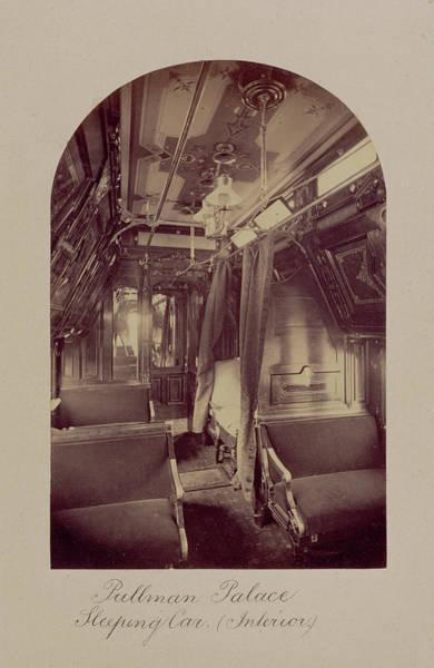 American Car Drawing - Pullman Palace Sleeping Car Interior Carleton Watkins by Litz Collection