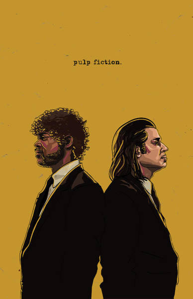 Digital Illustration Digital Art - Pulp Fiction by Jeremy Scott
