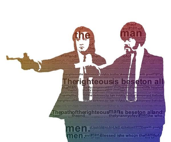 Wall Art - Digital Art - Pulp Fiction Typography by Dan Sproul
