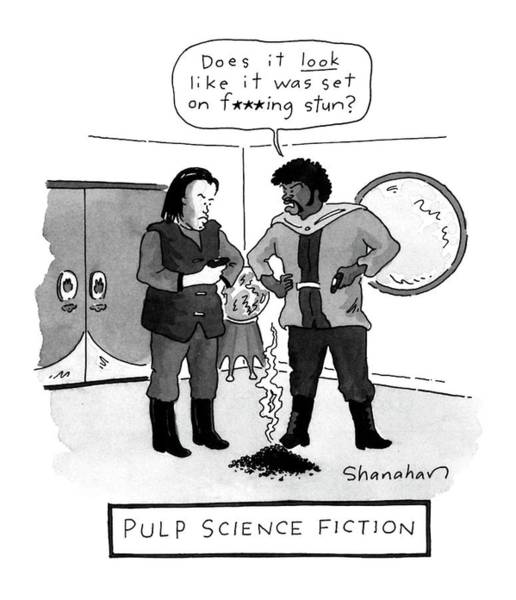 Science Fiction Drawing - Pulp Science Fiction by Danny Shanahan