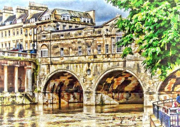 Digital Art - Pulteney Bridge Bath by Paul Gulliver