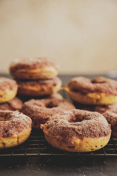 Foothills Wall Art - Photograph - Pumpkin Donuts With Cinnamon Sugar by Beth D. Yeaw