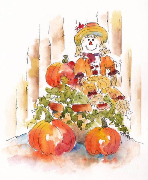 Painting - Pumpkin Gal by Pat Katz