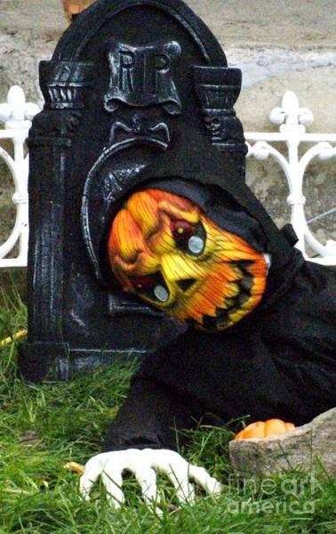 Pumpkinhead Wall Art - Photograph - Pumpkin Head by Gail Matthews
