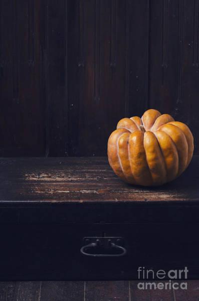 Wall Art - Pyrography - Pumpkin by Jelena Jovanovic