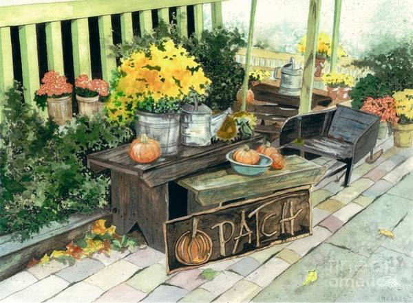 Wall Art - Painting - Pumpkin Patch  by Barbara Jewell
