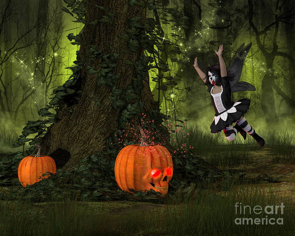 Digital Art - Pumpkin Patch by Elle Arden Walby